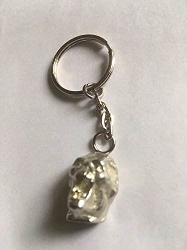 Zombie Alien Head 1,5x 2cm tg310a Emblem aus feinem englischen Zinn auf einer Split Ring Schlüsselanhänger/Tasche Charme sehr feine Details kommt Geschenk Beutel geschrieben von uns Geschenke für alle 2016von Derbyshire UK