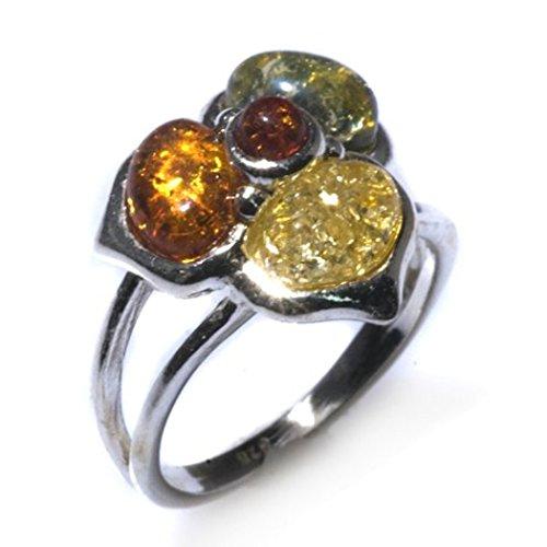 in Sterling Silber Blumen Ring ()