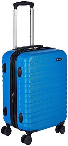 Amazonbasics - valigia trolley rigido, 55 cm (utilizzabile come bagaglio a mano di dimensioni standard), blu chiaro