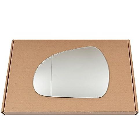 Grand Angle côté gauche passegner aile en argent miroir en verre pour Peugeot 2072006–2012