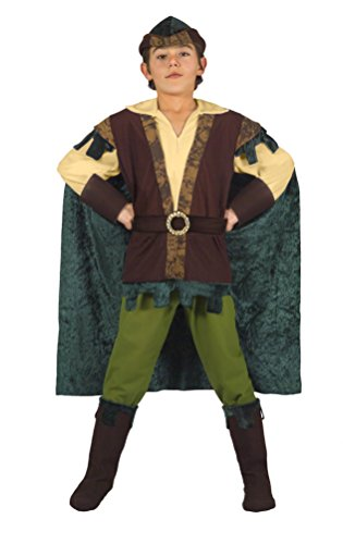 Ciao 13275.8-10 - Costume Robin Hood Arciere di Sherwood, 6-8 Anni, L