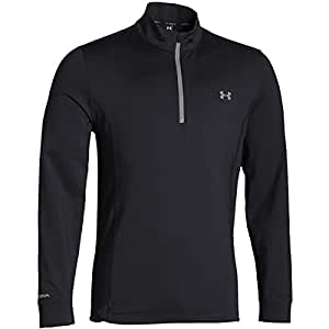 2015 Under Armour Storm Links Quarter Zip Water Repellent Cover-Up Mens Golf Thermal Pullover Black XL