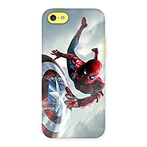 web sheild Multicolor Back Case Cover for iPhone 5C