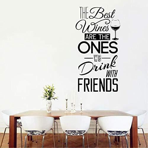 Modeganqingg Der Beste Wein in der Küche Wandtattoo ist das Weinrestaurant, das wir mit Freunden Trinken. 57 breit 57x108cm