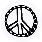 Azeeda 24 x 40mm Redondas 'Simbolo de Paz' Pegatinas (SK00003209)