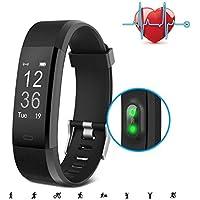 SAVFY Cardiofrequenzimetro GPS da Polso, Bluetooth Fitness Tracker, Smartwatch con 14 Modalità Sportiva, Percorso di Formazione GPS Impermeabile Braccialetto Fitness Activity Tracker per Android e iOS
