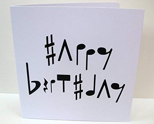 Music Birthday Card – Card for a Musician – Paper Cut Card