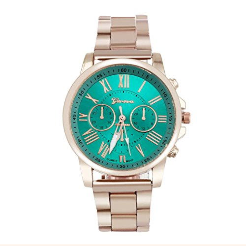 familizo-luxury-stylish-roman-number-stainless-steel-band-quartz-dial-wrist-watch-green