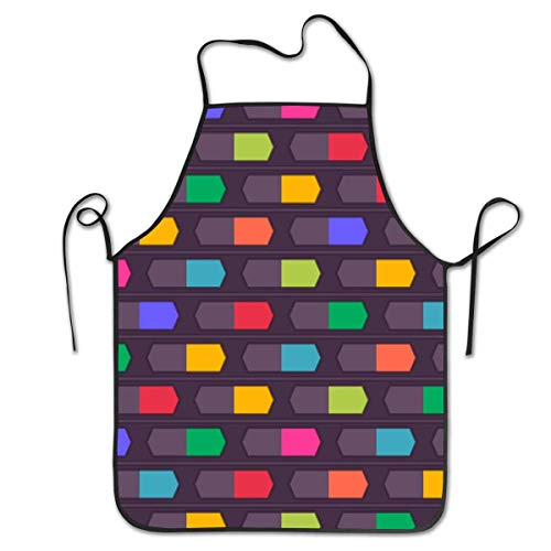 HTETRERW Abstract Trippy Graffiti Paint Aprons for Men - Cooking, Kitchen, BBQ Aprons, Unique and Stylish Protective Bib, Water and Oil Proof for Chef, Waiter, Veterinary, Barber, - Haar Stylist Kostüm