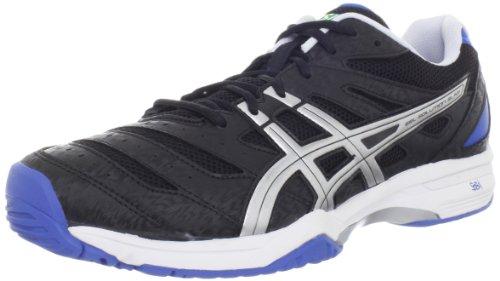 Asics - da uomo da Tennis Gel-soluzione le dita dei bambini scarpe In nero/Lightning/Roya, UK: 8 UK, Nero/Lightning/Roya