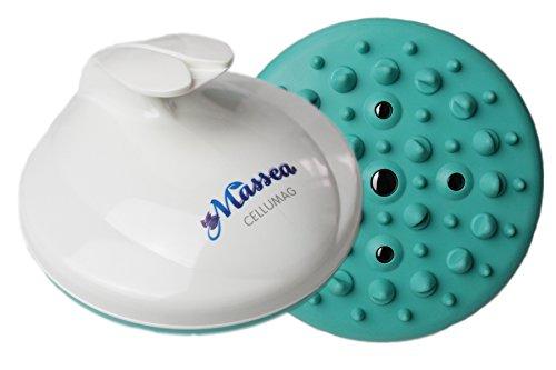 CelluMag Anti Cellulite Massagebürste mit Magneten gegen Orangenhaut. Für straffe Haut, Massage, Wellness und Beauty (Türkis) -