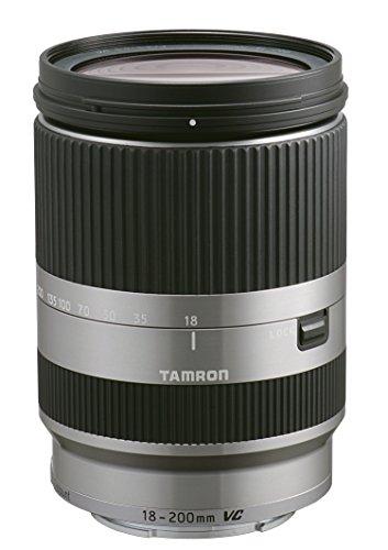 Tamron AF 18-200 mm F:3.5-6.3 Di III VC - Objetivo para Canon EOS-M (Estabilizador óptico, diámetro: 62mm), plateado