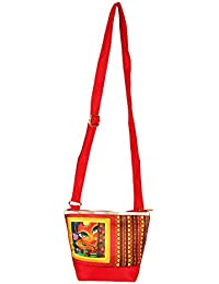 The Great Indian Mela Messenger Sling Bag - Lady With Lotus