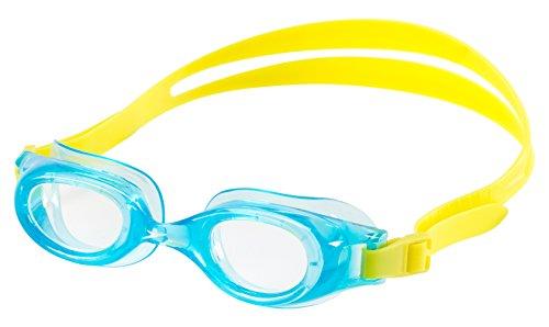 Speedo Kids Jr. Hydrospex Silicone Swim Swimming Classic Goggles, Blue Hawaii - Goggles Jr Speedo