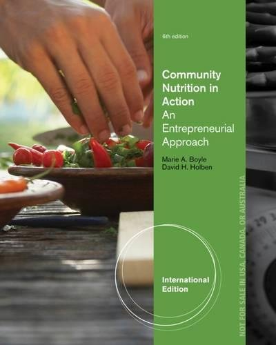 Community Nutrition in Action: An Entrepreneurial Approach, International Edition