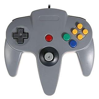 amazingdeal Kopfhörer, Game-Controller Gamepad-Stimulator Fernbedienung für Nintendo N64, grau, 1