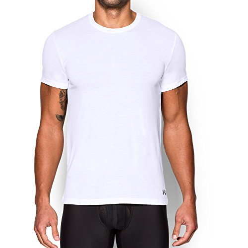 Under Armour Herren Core Crew Unterhemd XXXXX-Large White/Steel (Under Kurzarm-unterhemd Armour)