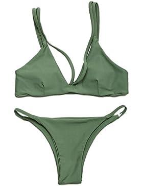 Costume da bagno delle signore Costume da bagno della spiaggia dello Swimsuit dello spaccato del bikini dello...