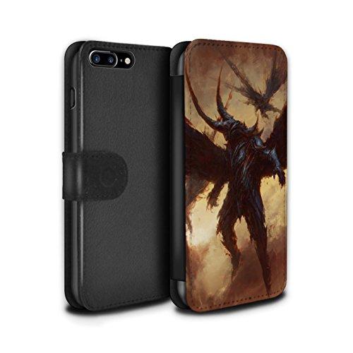 Offiziell Chris Cold PU-Leder Hülle/Case/Tasche/Cover für Apple iPhone 7 Plus / Teufel/Tier Muster / Wilden Kreaturen Kollektion Flügel von Nox