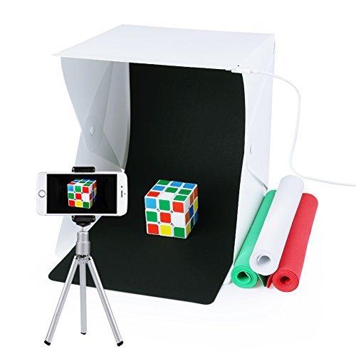 Studio fotografico,tenda di illuminazione portatile pieghevole di fotographia con 4 scende con la luce del led