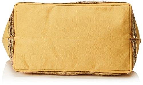 Vanessa Bruno - Cabas Medium +Zippe Coton Et Paillettes, Borse Tote Donna Giallo (Soleil Brise)