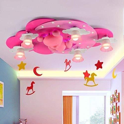 Xisoisi Kinderzimmer Leuchten Prinzessin kreative schöne Deckenleuchte, Metall hängende Befestigung hängende Beleuchtung für Innen für Wohnzimmer Schlafzimmer Kinderzimmer Gang Korridor LED Spot Light -