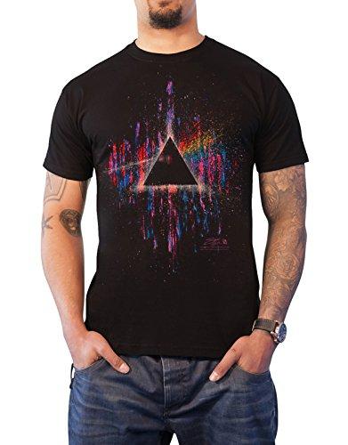 Pink Floyd T-shirt (Pink Floyd T Shirt Dark Side of The Moon Rosa Splatter offiziell Herren Nue)