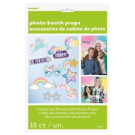 Unique Party 72509Einhorn Party Foto Booth Requisiten, Set von 10