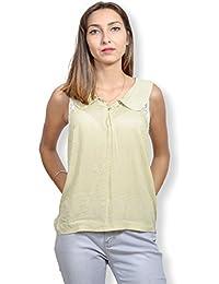 Camisa Mujer SIN mango – Camisa Mujer diseños clásicos de color amarillo