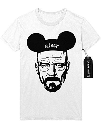 T-Shirt Walter Mickey Mouse Breaking Bad C112241 Weiß (Und Walt Jesse Kostüm)