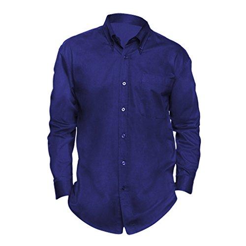 SOLS - Camicia Maniche Lunghe 100% Cotone - Uomo (4XL) (Blu reale)