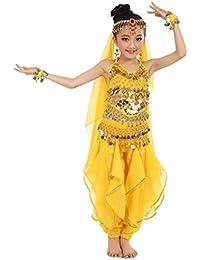 FEITONG Hecho a mano Niña niña Danza del vientre Disfraces Niños Danza del vientre Paño de danza de…