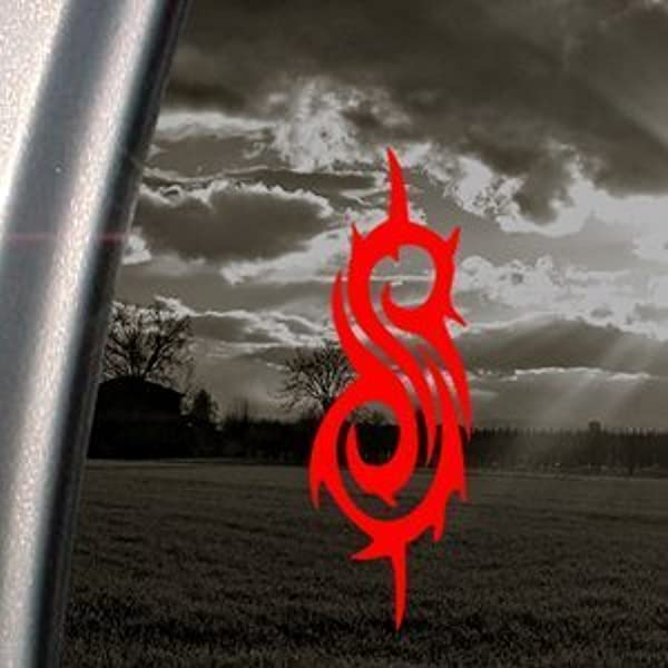 Slipknot Band Logo Rot Aufkleber Auto Truck Window Sticker Rot 15x5cm Auto