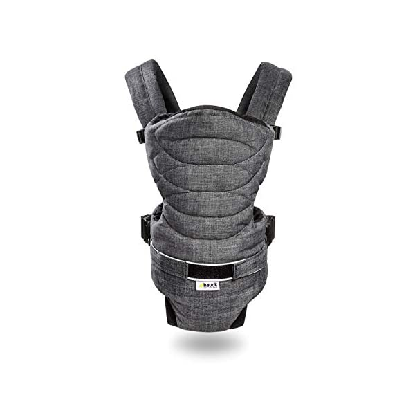 Hauck 2 Way Carrier, Ergonomic Baby Carrier Newborn to Toddler from Birth up to 12 kg, Softly Padded, Two Carrying Possibilities, High Level of Carrying Comfort, Melange Charcoal Hauck 2 carrying possibilities on the front Reinforced head and back area Safe and ergonomic baby carrier 1