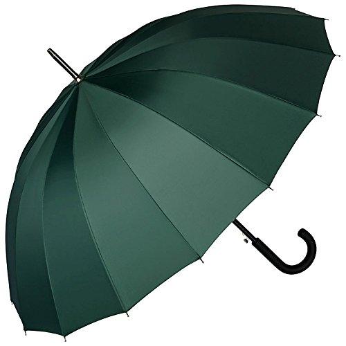 VON LILIENFELD® Regenschirm Automatik Damen Herren Fiberglas 16 Stangen Sehr Stabil Devon Jägergrün