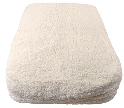 Double 'en laine d'agneau de luxe aspect et toucher Crème Ultra Doux élastique pour matelas Enhancer