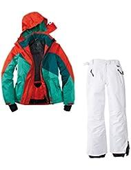 Traje de esquí. Traje de esquí funcional para mujer Talla 42M de 14Color. Verde de color rojo de color blanco nieve Traje
