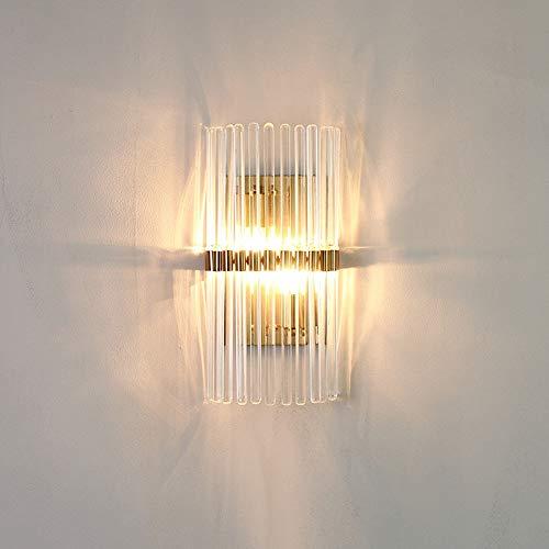 LJ Nordic Modern Minimalistische Licht Luxus Wandleuchte Kristall Metall Beleuchtung Lampen Nachttischlampe 3-8 Quadratmeter Schlafzimmer Esszimmer Wohnzimmer Studie Flur Halle - Halle Kristall-wandleuchte