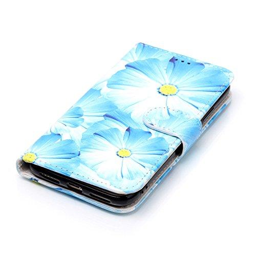 inShang Custodia per iPhone X 5.8 inch con design integrato Portafoglio, iPhoneX 5.8inch case cover con funzione di supporto. + inShang Logo pennino di alta classe orchid