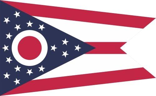 KIWISTAR Aufkleber - Ohio Columbus - Bundesstaat USA Autoaufkleber Sticker State Flagge