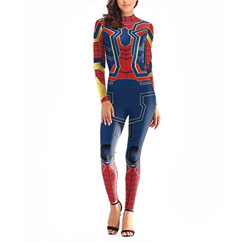 WEDSGTV Avengers Frau Siamesische Strumpfhose Anime Spiel Superheld Kostüm Erwachsene Kinder Halloween Maskerade Rolle Performance Kostüm,Red-L/XL (Superhelden Kostüm Red)