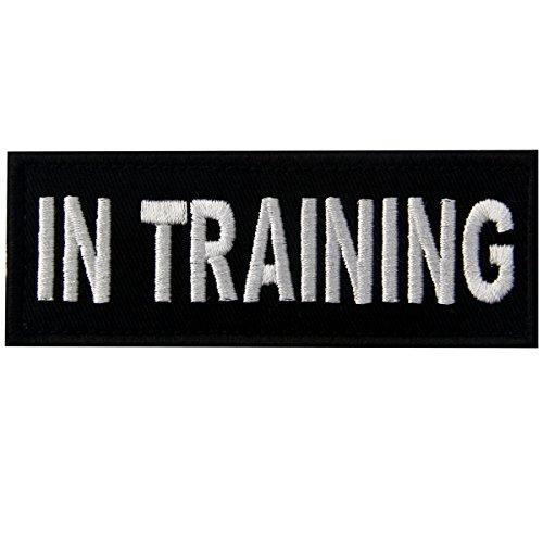In Training Entrenando Servicio Animales Emblema Chalecos/Arneses