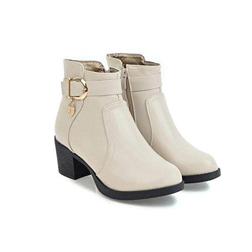 Chaussures à fermeture éclair beiges femme 7MVS0