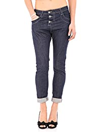 PLEASE - P78 femme dark jeans baggy