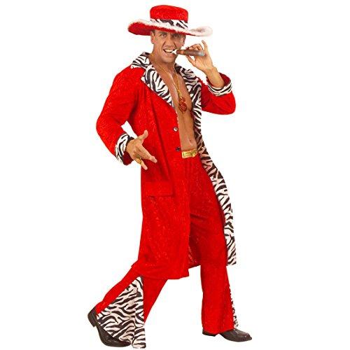Pimp Gangsterkostüm Proll Zuhälterkostüm M 50 Rapper Herrenkostüm Zuhälter Kostüm Karnevalskostüme Erwachsene Playboy Faschingskostüm Gangster Anzug Fasching (Pimp Anzug Kostüm)
