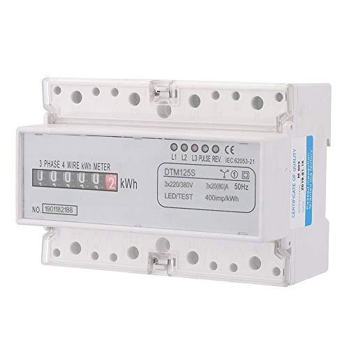 Misuratore EKM, 20-80 A Guida DIN trifase Kilowattora kwh Contatore 220 / 380V Misuratore digitale di energia elettrica