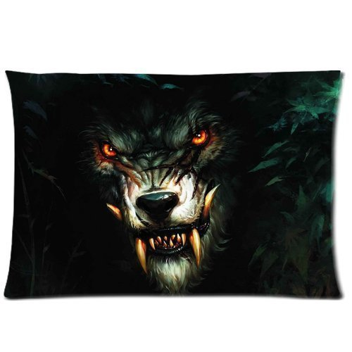 Mj Slip (Christmas present Werewolf Background Comfortable & Polyester pillow cover case slip/Cushion case cover(Two Side Printing 30inch*20x30inch))