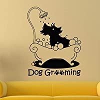 Ajcwhml Dog Grooming Wall Sticker Pet Grooming Salon Vinyl Pets Shop Wall Mural Pets Salon Wall Art Interior Decor 57X73Cm