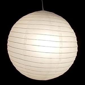 lampion wei 02 wei lampe papier pendelleuchte papierlampe mo dance k che haushalt. Black Bedroom Furniture Sets. Home Design Ideas
