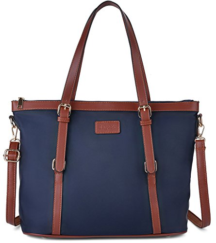 Designer Handtasche Nylon (Shopper Damen Gross, Bageek Handtasche Damen Shopper Handtasche Blau Umhängetasche Damen Groß Designer Taschen)
